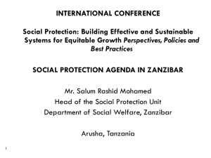 Social protection agenda in Zanzibar [PPT]