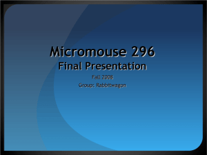 Micromouse 296 Preliminary Design Review