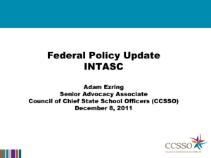 Federal Policy Update PowerPoint