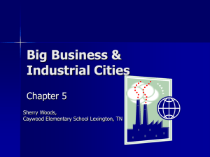 Big Business & Industrial Cities
