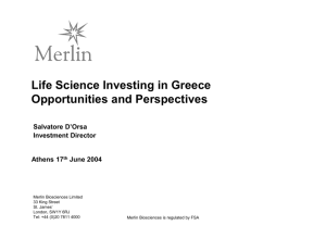 Merlin Biosciences Fund III