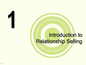 Introduction to Relationship Selling