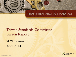 Taiwan Liaison Report for EHS_April 2014