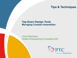 Top-Down Design - PTC/USER Benelux