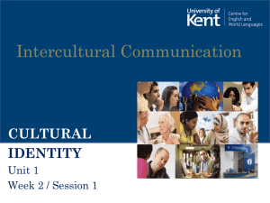 cultural identity - University of Kent