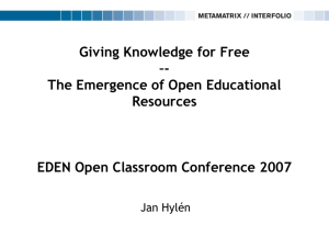 the Emergence of Open Educational Resources