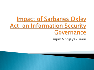 Impact of Sarbanes Oxley Act-on Information Security Governance