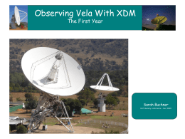 Observing Vela With XDM
