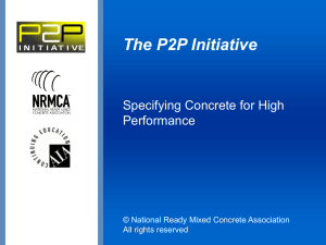 Prescription to Performance - National Ready Mixed Concrete