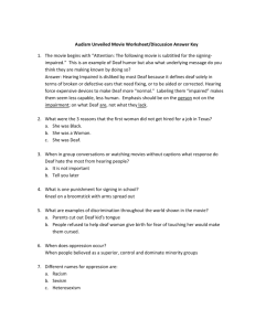 Audism Unveiled Movie Worksheet Answer Key