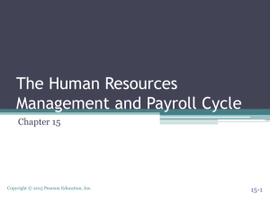 The Human Resources Management and Payroll Cycle