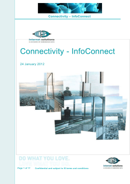 InfoConnect Service Description
