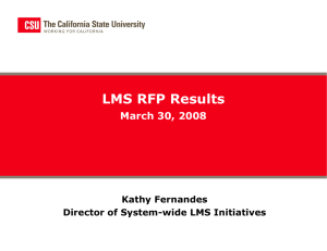 ITAC LMS RFP Results - The California State University