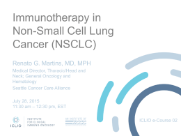 Immunotherapy in Non-Small Cell Lung Cancer