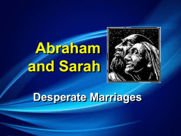 Abraham and Sarah - Community Covenant Church