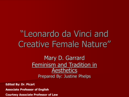 Leonardo da Vinci and Creative Female Nature