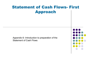 Chapter 4, Statement of Cash Flows