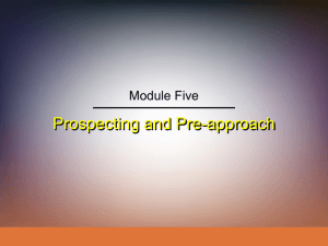 Prospecting and Pre