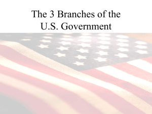 Branches of Our Government