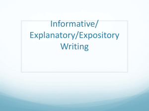 Introduction to Expository Writing