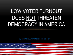 Low voter turnout does not threaten democracy in America