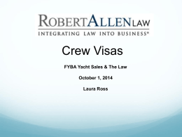 FYBA Crew Visa Presentation October 1, 2014