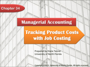 Tracking Product Costs with Job Costing