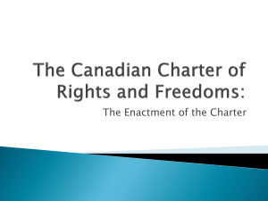 The Canadian Charter of Rights and Freedoms: