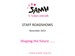 Staff Engagement - SAMH Internal Communications