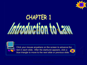 Powerpoint for Chapter 1