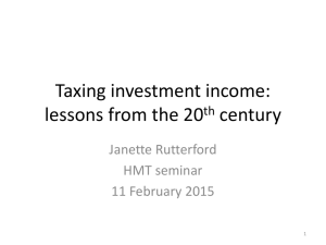 Taxing investment income: lessons from the 20th century