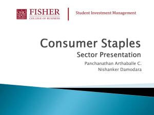 Consumer Staples - Fisher College of Business