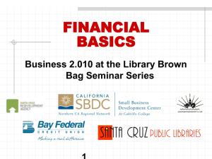 Basics of Financials - Santa Cruz Public Libraries