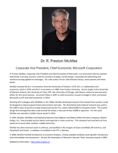 Dr. R. Preston McAfee