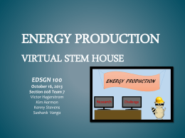 Energy production Virtual Stem house