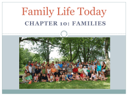 Family Life Today PPT