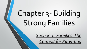 Chapter 3- Building Strong Families