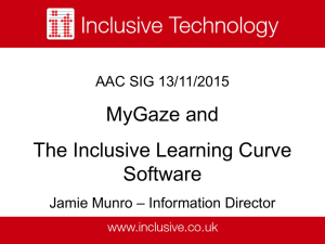 My Gaze, Inclusive Eye Gaze Learning Curve