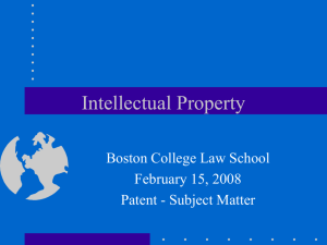 Patent - Subject Matter