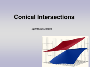 The Role of Conical Intersections in Non
