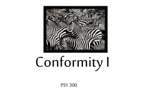 Conformity I - Study materials & Discussion related to APS