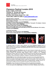 Press Release Sadler's Wells, Rosebery Avenue, London, EC1R
