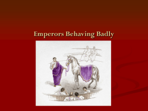 Emperors Behaving Badly - 43-491-spring08-rome