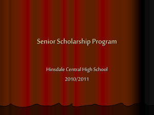 Slide Presentation for Senior Scholarship Program 2010