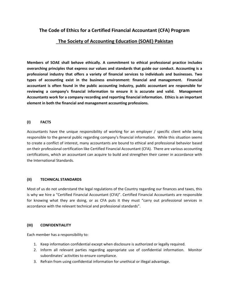 Cfa Program The Society Of Accounting Education Soae Pakistan