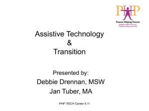 Assistive Technology and Transition