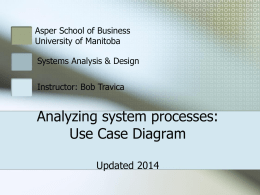 Analyzing system processes: Use Case