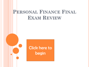Personal Finance Exam Review