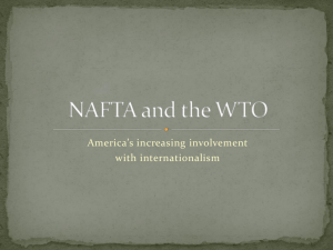 NAFTA and the WTO