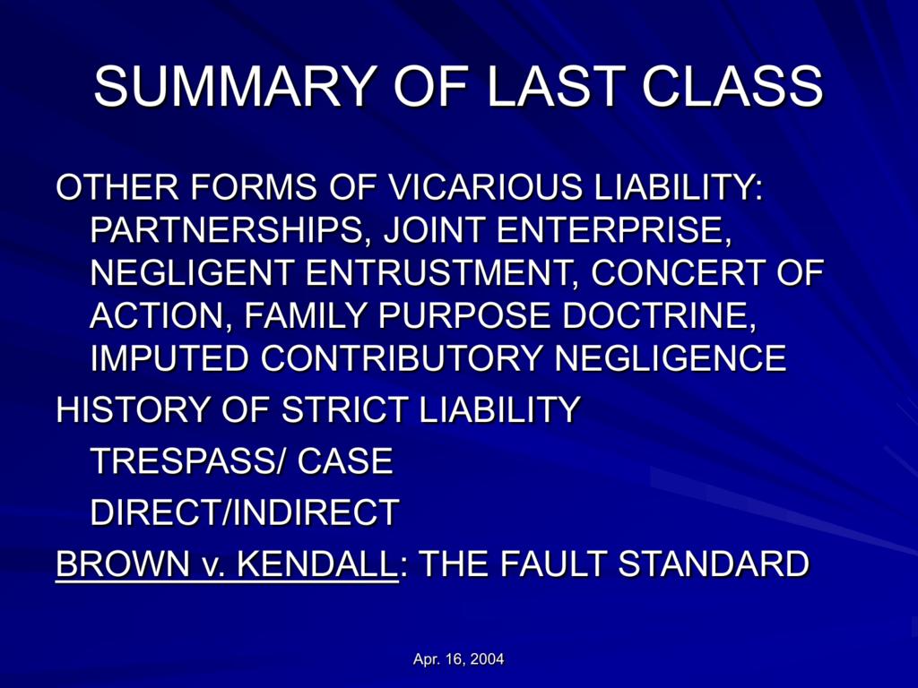 the last class summary